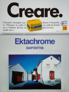 Pubblicità Kodak Ektachrome